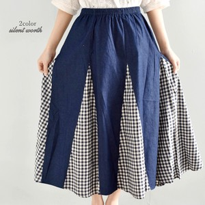 12 Pcs Gingham Check Switching Skirt