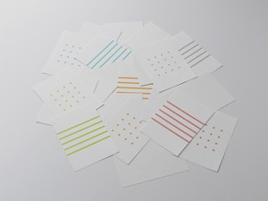 KOBEHA card A6 dot grid|20枚入|アクア