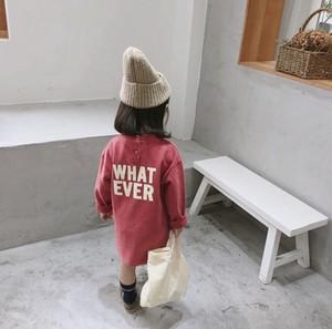 ae715c524d87e 2019年新作 子供 女の子 ウエア アルファベット ロング型 ワンピース キッズ