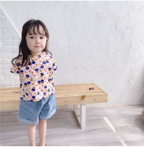 Korea Girl Short Sleeve Shirt Kids