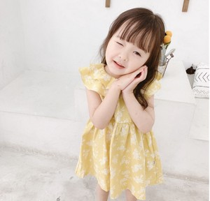 Kids One-piece Dress Attached Children's Clothing