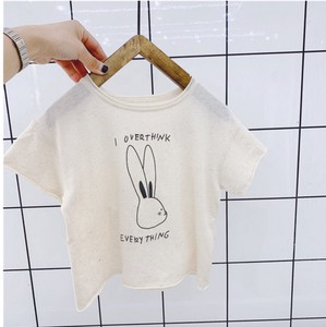Korea Girl T-shirt Short Sleeve Casual Character Rabbit Kids