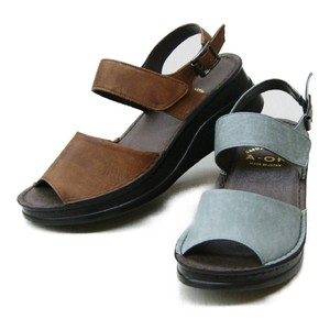 Beautiful Color Genuine Leather 2 Pcs Belt Sandal