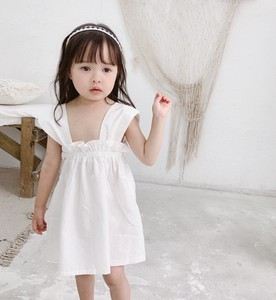 Children's Clothing Kids One-piece Dress Plain Casual