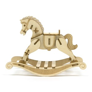Wooden Puzzle Rocking Horse
