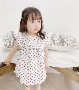 Kids One-piece Dress Embroidery Frill