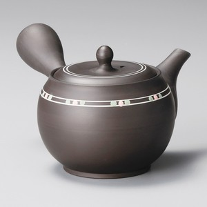 TOKONAME ware Bag Line Dot Japanese Tea Pot