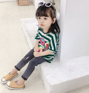 T-shirt Kids Border Casual