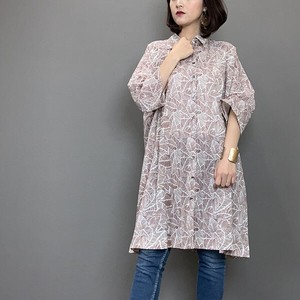 Leaf Print Shirt Tunic