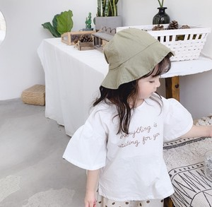 Korea Alphabet Frill Short Sleeve Kids