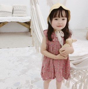 One-piece Dress Embroidery Frill Kids Casual