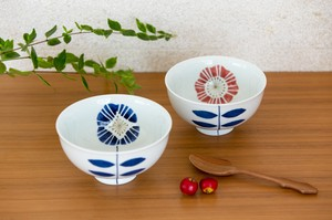 HASAMI Ware Japanese Rice Bowl Set