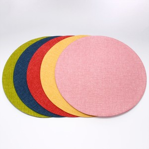 Four Seazon Colors Circle Mat Table Fabric Color