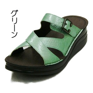Closs Design Genuine Leather Enamel Mule Sandal