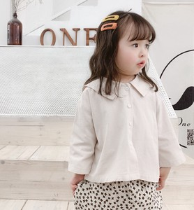 Children's Clothing Kids Korea Cotton Embroidery Attached Shirt Casual