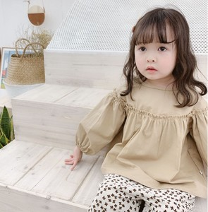 Children's Clothing Girl Top Long Sleeve Blouse Casual