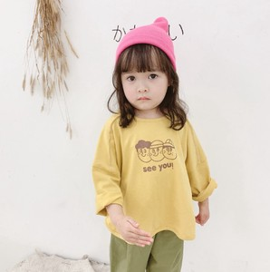 Korea Children's Clothing T-shirt Unisex Long Sleeve Cut And Sewn