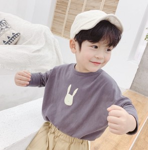 Korea Kids Cotton T-shirt Unisex Long Sleeve Cut And Sewn