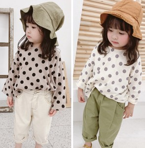Korea Long Sleeve Kids T-shirt Unisex Dot