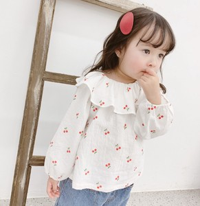 Kids Korea Cotton Print Attached Blouse Casual
