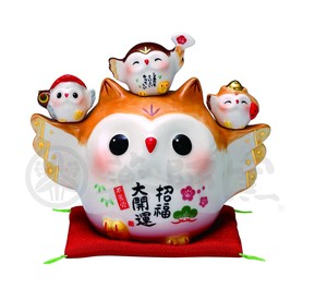Happiness Ornament Interior Better Fortune God Of Luck Owl