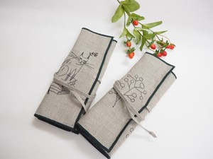 Mat Linen Roll Pencil Case