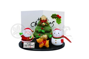 Happiness Ornament Interior Kinsai Crape Christmas Set