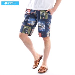[2019NewItem] Fleece Print Half Pants Bandana Sweat Shorts