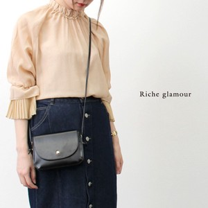 S/S Toyayanagi Phone Pleat Switching Blouse