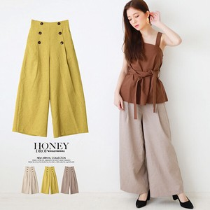 S/S Front Button wide pants