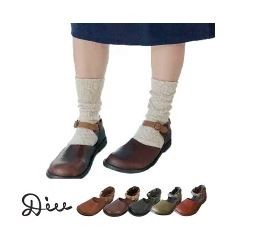 Belt Attached Shoes Leather Genuine Leather Ladies