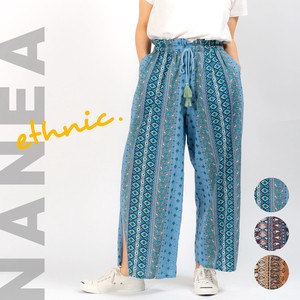 Carry S/S Ethnic Waist Gather wide pants