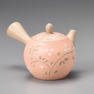 Steaming TOKONAME Ware Small Dot Orange Arabesque Japanese Tea Pot