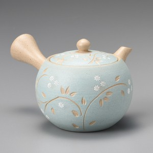 Steaming TOKONAME Ware Blue Arabesque Japanese Tea Pot