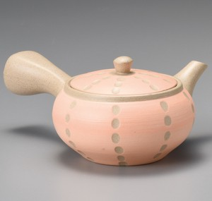 TOKONAME Ware Hiramaru Orange Dot Japanese Tea Pot