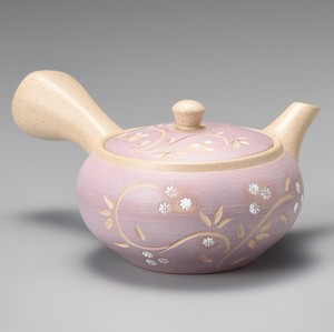 TOKONAME Ware Hiramaru Purple Arabesque Japanese Tea Pot
