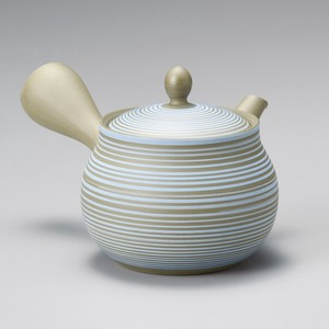 Steaming TOKONAME Ware Lucky Bag Light Blue Line Japanese Tea Pot