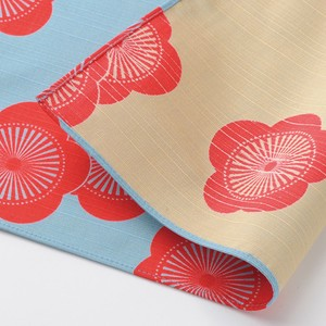 """Furoshiki"" Japanese Traditional Wrapping Cloth Ume Polka Dot Table Beige"