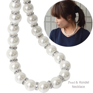 Popular Rondel Large Grain Pearl Necklace Necklace