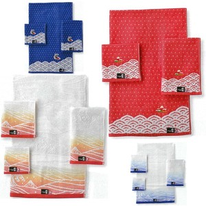 [Made in Japan/Imabari] [Hokusai] Mini Towel Wash Towel Face Towel Bathing Towel
