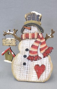Wood Snowman Stand