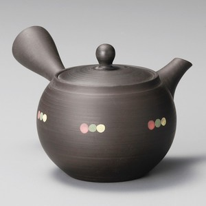 Japanese Tea Pot Kiln Change Small Dot 3 Colors Dot Japanese Tea Pot