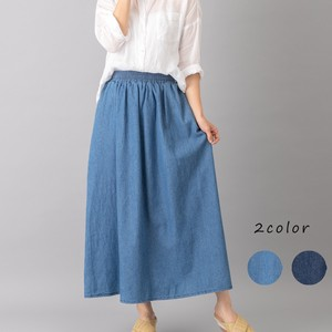 Denim Skirt Gather S/S Natu Petit Pla