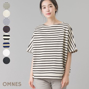 Fabric Short Top Short Sleeve T-shirt Border Plain