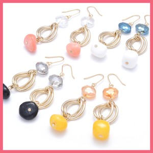 Natural stone Ring Mix Pierced Earring