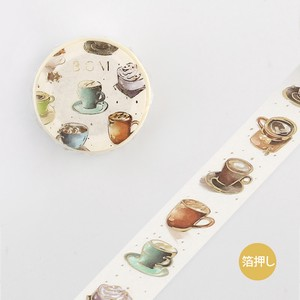 [BGM] Washi Tape  / Masking Tape Life Foil Stamping Hot Coffee