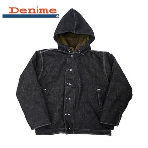 【予約販売】(9月納品)【2019秋冬新作】【HOUSTON】DENIM ALPACA FRENCH DECK JKT