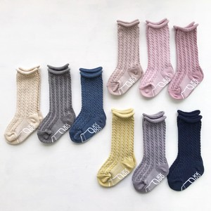Cable Knee High Socks 3 Pairs 12cm Baby Socks Socks