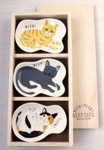 MEOW!MEOW!ねこ皿3点セット【GIFT SET】
