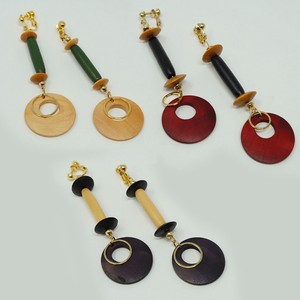 Circle Wood Earring